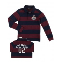 Aristocrate poloshirt with stripes windsor wine (4 pcs)
