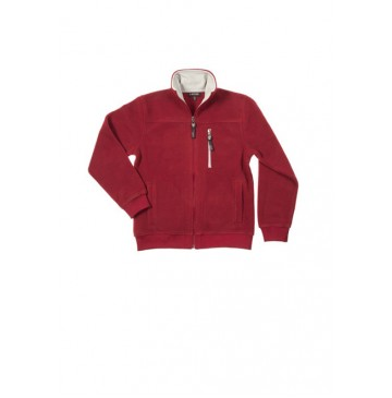 Slow nature fleece cardigan warm red (4 pcs)