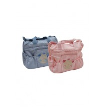 Good night baby nursery bag blue + pink (2 pcs)