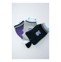 Boys Socks Academy gentian violet (5 sets of 3 pcs)