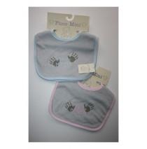 Mooiste Mama 2 sets bibs blue + pink (4 pcs)