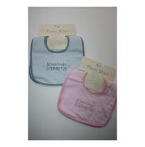 Baby bib mijn kleine sterretje blue+pink (4 pcs)
