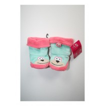 Girls booties 3D Faces conch shell (4 pcs)