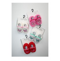 Baby Booties Butterfly pink+white+red+white (12 pair)