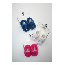 Baby booties Boys-Girls blue+eclips+fuchsia+white (12 pair)