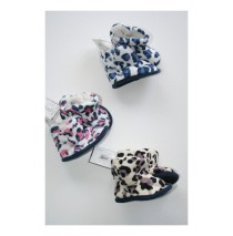 Baby booties animal print pink-white-grey (5 pcs)