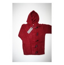 Migration hoodede cardigan wine red (4 pcs)