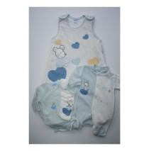 Babyboy 4 piece set Little Mouse blue (1 pc)