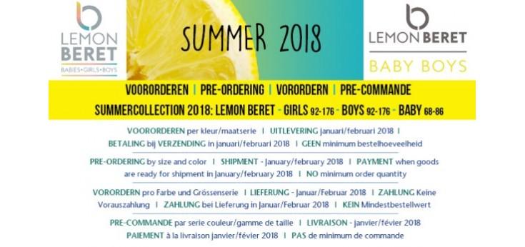 S2018 Lemon Beret baby boys (68-86)