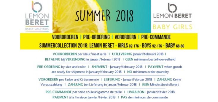 S2018 Lemon Beret baby girls (68-86)