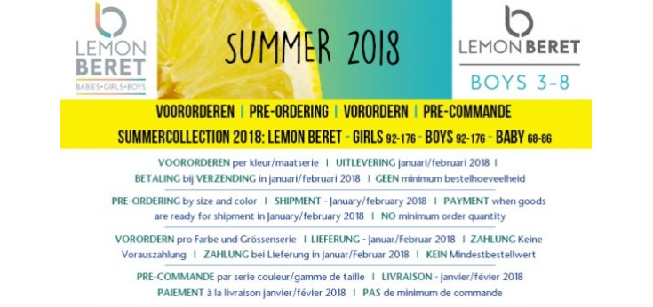 S2018 Lemon Beret boys (92-128)