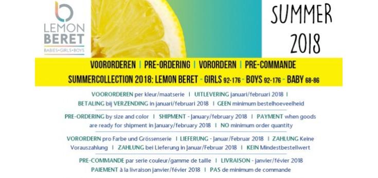 LEMON BERET Summer 2018