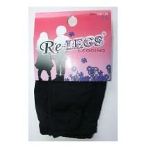 Girls 7/8 Fantasy Legging Buttons/Wrinkles black (3 pcs)