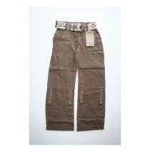 Aquasafari-Africa roll up pant with belt brown (5 pcs)