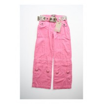 Deals - Safari roll up pant with belt pink (5 pcs)