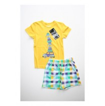 Travel experience shortama set yellow (2 pcs)