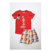 Travel experience shortama set red (2 pcs)