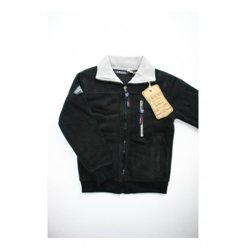 Slow nature fleece cardigan black (3 pcs)