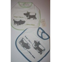 Little Puppy 2 sets bibs (4 bibs)