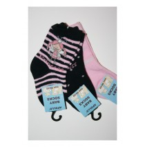 Baby Kneehigh Socks Little princess black (5 pairx3pcs)