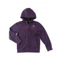 Aristocrate micro fleece hooded cardigan purple (4 pcs)
