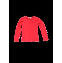 Small girls shirt ribbon red (4 pcs)