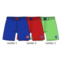 124608 Global Mix baby boys swimwear combo 2 ribbon red (4 pcs)