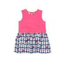 Baby girls dress rose red (4 pcs)