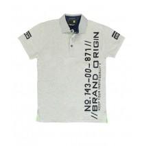 Deals - RG512 Brand origin poloshirt Combo 1 grey melange (2 pcs)