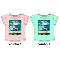 Deals - Encounter baby girls shirt combo 2 blue radiance (3 pcs)
