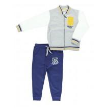Sport small boys set cardigan + pant gray melange (5 pcs)