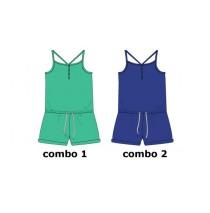 130521 Encounter teen girls overall combo 2 clematis blue (6 pcs)