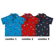 130554 Riviera baby boys polo combo 2 racing red (4 pcs)