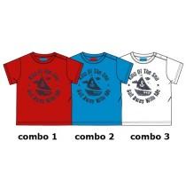 Riviera baby boys shirt combo 3 optical white (4 pcs)