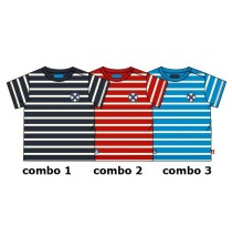 130556 Riviera baby boys shirt combo 2 racing red (4 pcs)