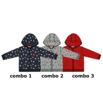 130560 Riviera baby boys cardigan sweater combo 3 racing red (4 pcs)