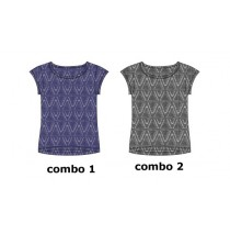 Encounter teen girls shirt combo 2 antra melange (6 pcs)