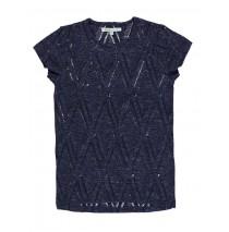 130567 Encounter teen girls shirt combo 1 blue melange (6 pcs)