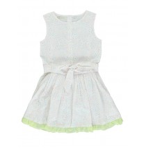 130577 Digital Wave small girls dress pale lime yellow (5 pcs)