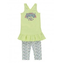130578 Digital Wave small girls set: singlet+legging pale lime yellow (5 pcs)