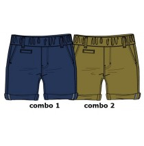 130659 Encounter baby boys bermuda combo 2 desert brown (4 pcs)