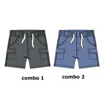 Baby boys bermuda combo 2 vista blue (2 pcs)