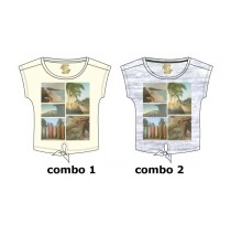 130985 Encounter teen girls shirt combo 2 light grey melange (6 pcs)