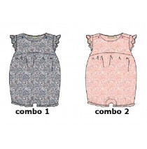 Pauze baby girls overall combo 2 conch shell (4 pcs)