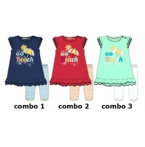 Riviera baby girls set shirt+legging combo 3 blue radiance (4 pcs)