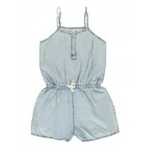 131060 Encounter teen girls overall denim blue (5 pcs)