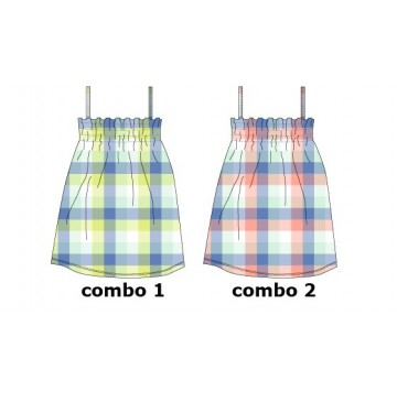 131124 Baby girls dress Combo 2 conch shell (4 pcs)