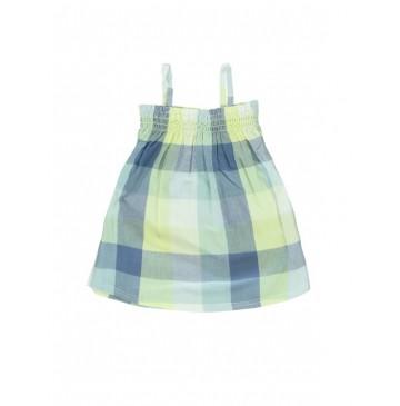 131124 Baby girls dress Combo 1 pale lime yellow (4 pcs)
