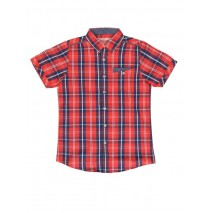 Digital wave teen boys blouse red (5 pcs)