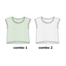 131134 Encounter teen girls shirt combo 2 optical white (6 pcs)